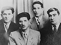 USSR 195?.From left to Right, Said Ahmed, Assad Khoshawi, Ali Khalil and General Barzani.URSS 195?.De gauche a droite, Said Ahmed, Assad Khoshawi, Ali Khalil et Mustafa Barzani