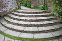 Lutyens steps leading from the Wall Garden to the Loggia, Great Dixter.