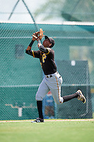 Pittsburgh Pirates Alfredo Reyes (12) during an Instructional League Intrasquad Black & Gold game on September 20, 2016 at Pirate City in Bradenton, Florida.  (Mike Janes/Four Seam Images)