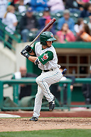 Fort Wayne TinCaps second baseman Nate Easley (17) at bat during a game against the Wisconsin Timber Rattlers on May 10, 2017 at Parkview Field in Fort Wayne, Indiana.  Fort Wayne defeated Wisconsin 3-2.  (Mike Janes/Four Seam Images)