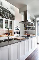 Grey worktop in contemporary kitchen