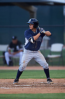 AZL Padres 2 Ripken Reyes (5) at bat during an Arizona League game against the AZL White Sox on June 29, 2019 at Camelback Ranch in Glendale, Arizona. The AZL Padres 2 defeated the AZL White Sox 7-3. (Zachary Lucy/Four Seam Images)