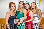 Attending the Gaelcoláiste Chiarraí Debs in the Ballyroe Heights Hotel on Thursday night. L to r: Ciara O'Sullivan, Meg Cronin, Aimee and Kayla O'Connor.
