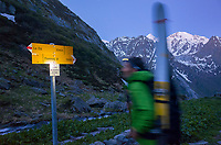 Searching for snow limit, Le Parrain, Wallis, Switzerland, May 2020.