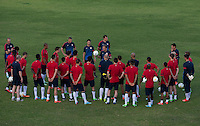 Kingston, Jamaica - Tuesday, June 4, 2013: USMNT training at the Arnett Gardens Football Club practice fields in preparation for their WC Qualifying match with Jamaica.