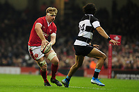 Wales Aaron Wainwright in action during the International friendly match between Wales and Barbarians at the Principality Stadium in Cardiff, Wales, UK. Saturday 30 November 2019.