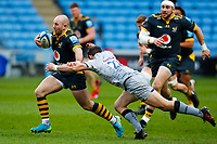 27th March 2021; Ricoh Arena, Coventry, West Midlands, England; English Premiership Rugby, Wasps versus Sale Sharks; Dan Robson of Wasps breaks away from AJ MacGinty of Sale Sharks