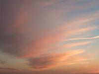 Clouds on big Sur coast, CA