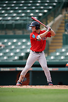 Boston Red Sox Nick Decker (46) at bat during a Florida Instructional League game against the Baltimore Orioles on October 8, 2018 at the Ed Smith Stadium in Sarasota, Florida.  (Mike Janes/Four Seam Images)