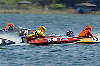 Richard Hearn (5-H) races through the field to the starting line. (runabout)....Stock  Outboard Winter Nationals, Ocoee, Florida, USA.13/14 March, 2010 © F.Peirce Williams 2010