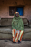 """CAR, Bangui: Myriam Zaoro is 52 years old and called the """"mama"""" of the Yelwa II neighborhood in the PK5 district. Myriam has survived to the anti-balaka attacks during the 2013 crisis while some of her relatives were killed. 16th April 2016.<br /> <br /> <br /> RCA, Bangui : Myriam Zaoro,52 ans, est appelée la «maman» du quartier Yelwa II dans le quartier PK5 . Myriam a survécu aux attaques anti- Balaka pendant la crise 2013 alors que certains de ses proches ont été tués . 16 avril 2016."""