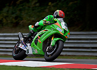 James Westmoreland (5) of Gearlink Kawasaki during 2nd practice in the MCE BRITISH SUPERBIKE Championships 2017 at Brands Hatch, Longfield, England on 13 October 2017. Photo by Alan  Stanford / PRiME Media Images.