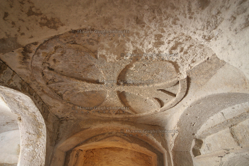 Matera, i Sassi Le chiese rupestri, interno