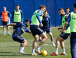 19.04.2019 Rangers training: Daniel Candeias, Gareth McAuley and Eros Grezda
