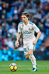 Luka Modric of Real Madrid in action during the La Liga 2017-18 match between Real Madrid and RC Deportivo La Coruna at Santiago Bernabeu Stadium on January 21 2018 in Madrid, Spain. Photo by Diego Gonzalez / Power Sport Images