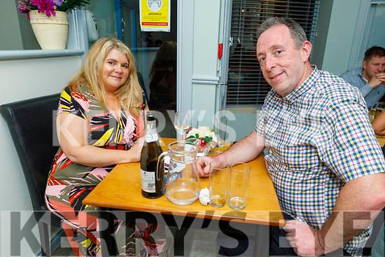 Tina O'Gorman and James Stack enjoying the evening in Sforno on Saturday.