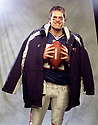 New England Patriots Tom Brady (12) portrait during his career with the New England Patriots.  Tom Brady currently has played for 17 seasons, all with the New England Patriots is a 12-time Pro Bowler and a 2-time MVP.(SportPics)