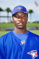 GCL Blue Jays D.J. Davis #19 poses for a photo before a Gulf Coast League game against the GCL Tigers at Joker Marchant Stadium on July 16, 2012 in Lakeland, Florida.  GCL Blue Jays defeated the GCL Tigers 4-3.  (Mike Janes/Four Seam Images)