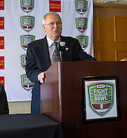 KFHB executive director Gary Cavalli at the Bay Area College Football Media Day/Luncheon at the Hotel Nikko in San Franciscofor Kraft Flight Hunger Bowl on July 30.2012. ( Photo by Norbert von der Groeben ) .