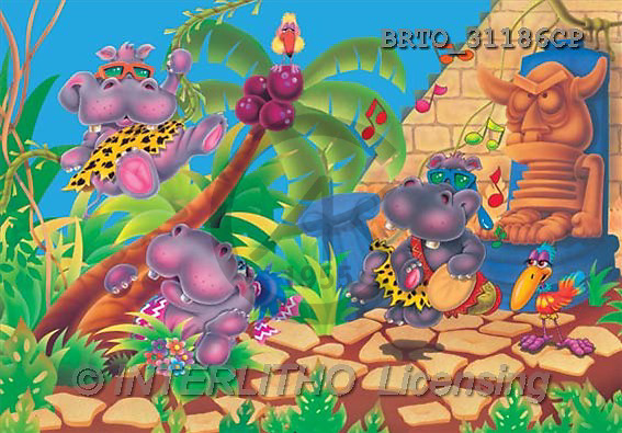 Alfredo, CUTE ANIMALS, puzzle, paintings(BRTO31186CP,#AC#) illustrations, pinturas, rompe cabeza