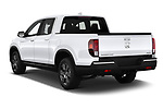 Car pictures of rear three quarter view of 2020 Honda Ridgeline RTL-E 4 Door Pick-up Angular Rear