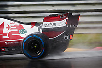 29th August 2021; Spa Francorchamps, Stavelot, Belgium: FIA F1 Grand Prix of Belgium,  race day: 07 RAIKKONEN Kimi (fin), Alfa Romeo Racing ORLEN C41 during the formation laps in heavy rain before cancellation of the race due to standing water