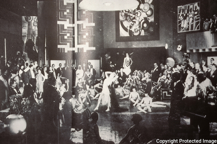 """Weimar Culture:  """"Entertainment at a Society Party in 1925"""".  LOST BERLIN, pp. 76-77, Everett. Reference only."""
