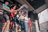 Jasper Stuyven (BEL/Trek-Segafredo) wins in his hometown of Leuven (BEL); the 52nd GP Jef Scherens - Rondom Leuven 2018 (1.HC)<br /> <br /> 1 Day Race: Leuven to Leuven (186km/BEL)