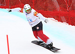 14/03/2014. Canadian Tyler Mosher competes in the men's para snowboard cross standing event at the 2014 Sochi Paralympic Winter Games in Sochi, Russia.(Photo: Scott Grant/Canadian Paralympic Committee)