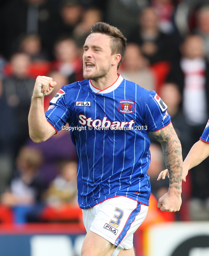 Matty Robson of Carlisle scores their second goal and celebrates<br />  - Stevenage v Carlisle Untied - Sky Bet League 1 - Lamex Stadium, Stevenage - 21st September, 2013<br />  © Kevin Coleman 2013