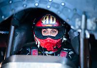 Oct 31, 2020; Las Vegas, Nevada, USA; NHRA funny car driver Alexis DeJoria during qualifying for the NHRA Finals at The Strip at Las Vegas Motor Speedway. Mandatory Credit: Mark J. Rebilas-USA TODAY Sports