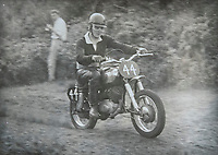 BNPS.co.uk (01202 558833)<br /> Pic: RayFisher/BNPS<br /> <br /> Pictured: Ray riding a motorcycle in 1962.<br /> <br /> Tireless Ray Fisher still works full-time in the motorcycle shop he opened 62 years ago - and he has plenty left in the tank.<br /> <br /> The 85 year old founded Ray Fisher's Brickbits in Christchurch, Dorset, in 1959 after training as a bike mechanic.<br /> <br /> It is a family affair as his two children Gerry, 58, and Stephanie, 54, have both worked solely for him since leaving school aged 16.<br /> <br /> Ray said he had loved bikes since childhood and learnt how to repair them while doing national service in the early 1950s.