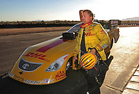 Jan 25, 2009; Chandler, AZ, USA; NHRA funny car driver Jeff Arend during testing at the National Time Trials at Firebird International Raceway. Mandatory Credit: Mark J. Rebilas-