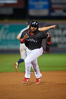 Reading Fightin Phils Cornelius Randolph (2) running the bases during an Eastern League game against the Trenton Thunder on August 16, 2019 at FirstEnergy Stadium in Reading, Pennsylvania.  Trenton defeated Reading 7-5.  (Mike Janes/Four Seam Images)