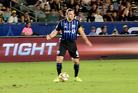 CARSON, CA - SEPTEMBER 21: Samuel Piette #6 of the Montreal Impact looks for an open man during a game between Montreal Impact and Los Angeles Galaxy at Dignity Health Sports Park on September 21, 2019 in Carson, California.