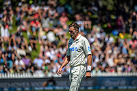 NZ's Tim Southee prepares to bowl during day two of the second International Test Cricket match between the New Zealand Black Caps and West Indies at the Basin Reserve in Wellington, New Zealand on Friday, 11 December 2020. Photo: Dave Lintott / lintottphoto.co.nz