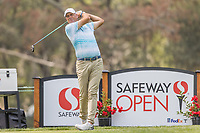 11th September 2020, Napa, California, USA;  Stewart Cink of the United States tees off during the second round of the Safeway Open PGA tournament on September 11, 2020 at Silverado Country Club in Napa, CA.