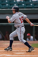Mississippi right fielder Mark Jurich (16) follows through on his swing versus Chattanooga at AT&T Field in Chattanooga, TN, Wednesday, July 25, 2007.