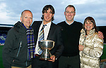 St Johnstone FC Business Club Player of the Year Award to Fran Sandaza presented by Greg Davidson..Picture by Graeme Hart..Copyright Perthshire Picture Agency.Tel: 01738 623350  Mobile: 07990 594431
