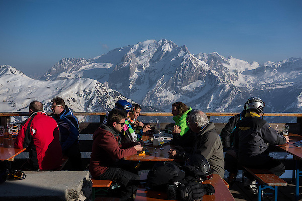 Col Rodella restaurant above Canazei, Dolomites, Italy, Europe 2014, .  John offers private photo tours in Denver, Boulder and throughout Colorado, USA.  Year-round. .  John offers private photo tours in Denver, Boulder and throughout Colorado. Year-round.