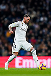 Sergio Ramos of Real Madrid in action during the La Liga 2018-19 match between Real Madrid and Rayo Vallencano at Estadio Santiago Bernabeu on December 15 2018 in Madrid, Spain. Photo by Diego Souto / Power Sport Images