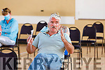 Sonny Foran speaking at the Ballyheigue Community Alert attending meeting in the Community Centre on Tuesday evening