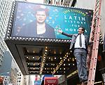 John Leguizamo - unveils his Broadway Marquee