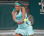 Madison Keys (USA) goes out ahead quickly in the first set against Kateryna Bondarenko (UKR) at the Family Circle Cup in Charleston, South Carolina on April 8, 2015.