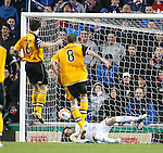 Neil Alexander saves the Annan penalty kick