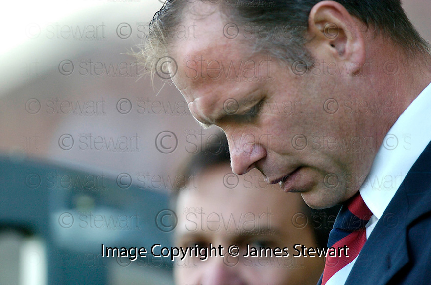 14/10/2006       Copyright Pic: James Stewart.File Name :jspa17_falkirk_v_st_mirren.FALKIRK MANAGER JOHN HUGHES WATCHES HIS SIDE AGAINST ST MIRREN....Payments to :.James Stewart Photo Agency 19 Carronlea Drive, Falkirk. FK2 8DN      Vat Reg No. 607 6932 25.Office     : +44 (0)1324 570906     .Mobile   : +44 (0)7721 416997.Fax         : +44 (0)1324 570906.E-mail  :  jim@jspa.co.uk.If you require further information then contact Jim Stewart on any of the numbers above.........