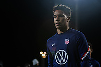 WIENER NEUSTADT, AUSTRIA - : Nicholas Gioacchini, of the United States warms up during a game between  at Stadion Wiener Neustadt on ,  in Wiener Neustadt, Austria.