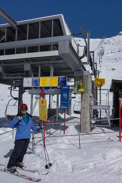 Riffel 2 Chairlift, Rendl Ski Area at St Anton, Austria,