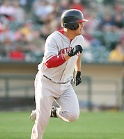 2007:  Alex Prieto of the Pawtucket Red Sox, Class-AAA affiliate of the Boston Red Sox, during the International League baseball season.  Photo by Mike Janes/Four Seam Images