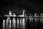 The Houses of Parliament dominate the night sky in London, England. May 16, 2009.